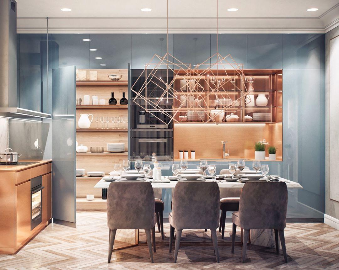 Авторский дизайн интерьера кухни от MAD group