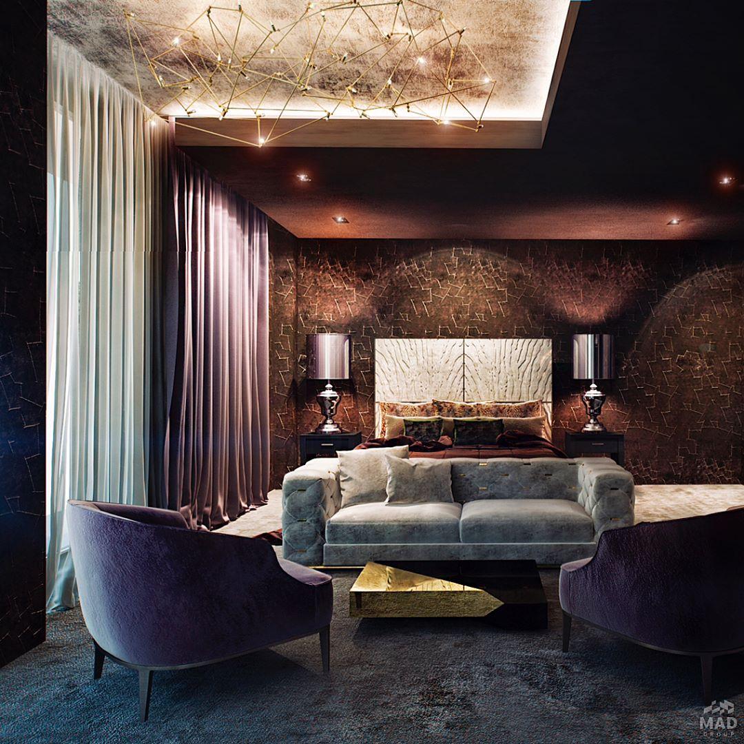 Авторский дизайн интерьера уникальной гостиной от MAD group