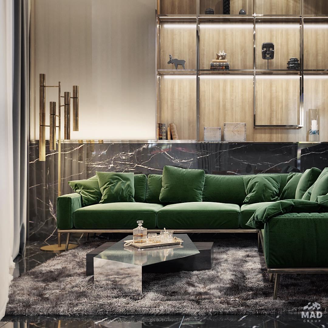 Дизайн интерьера гостиной от MAD group