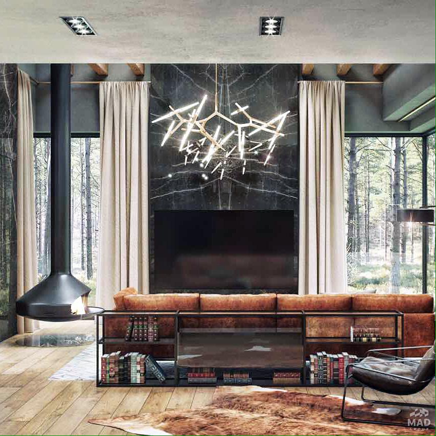 Дизайн гостиной от MAD group