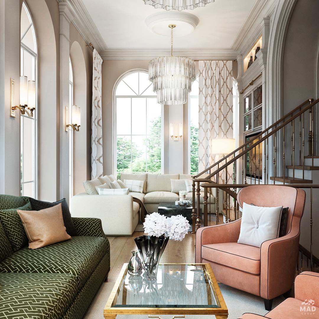 Авторский дизайн интерьера гостиной
