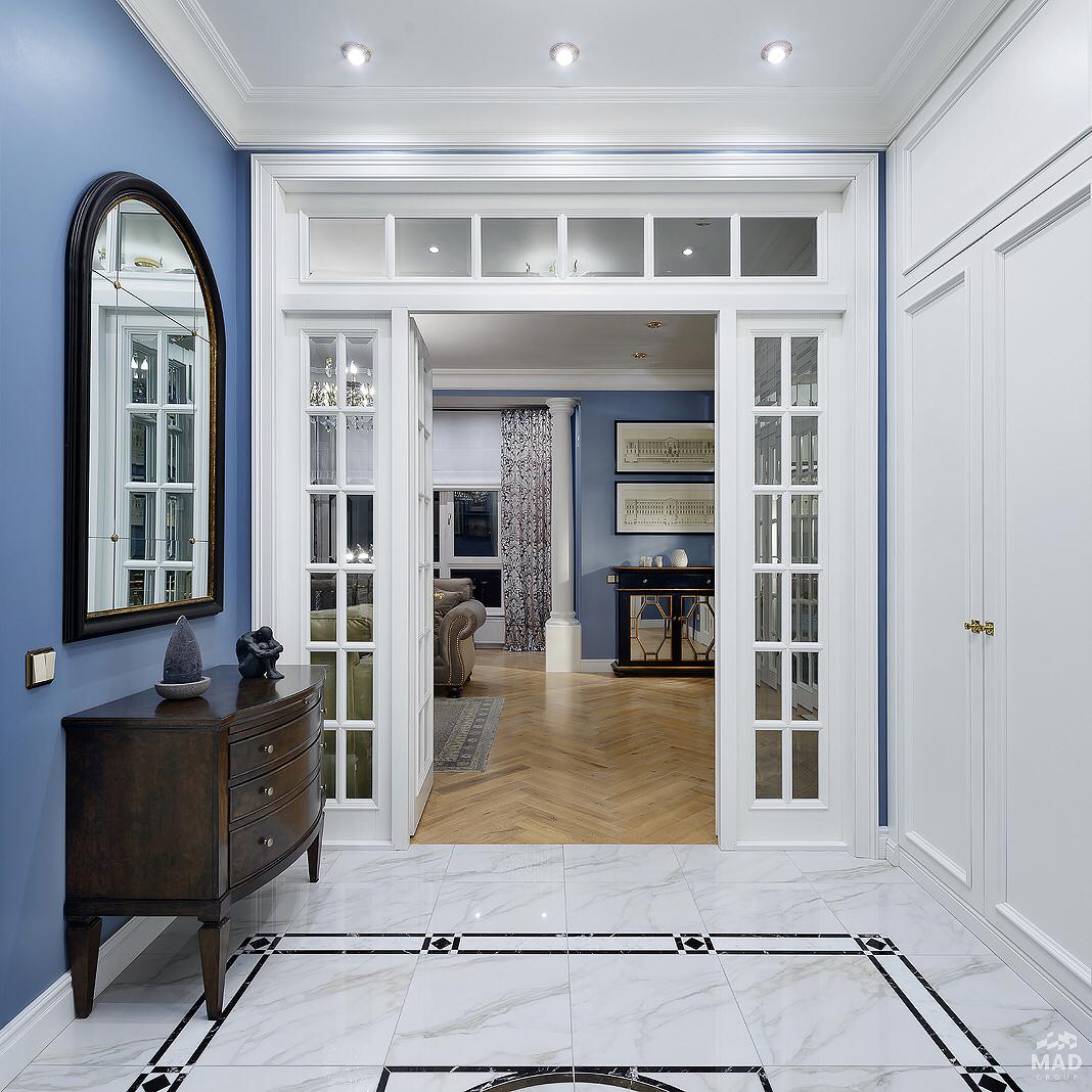 Авторский дизайн интерьера гостиной от MAD group что там за дверью