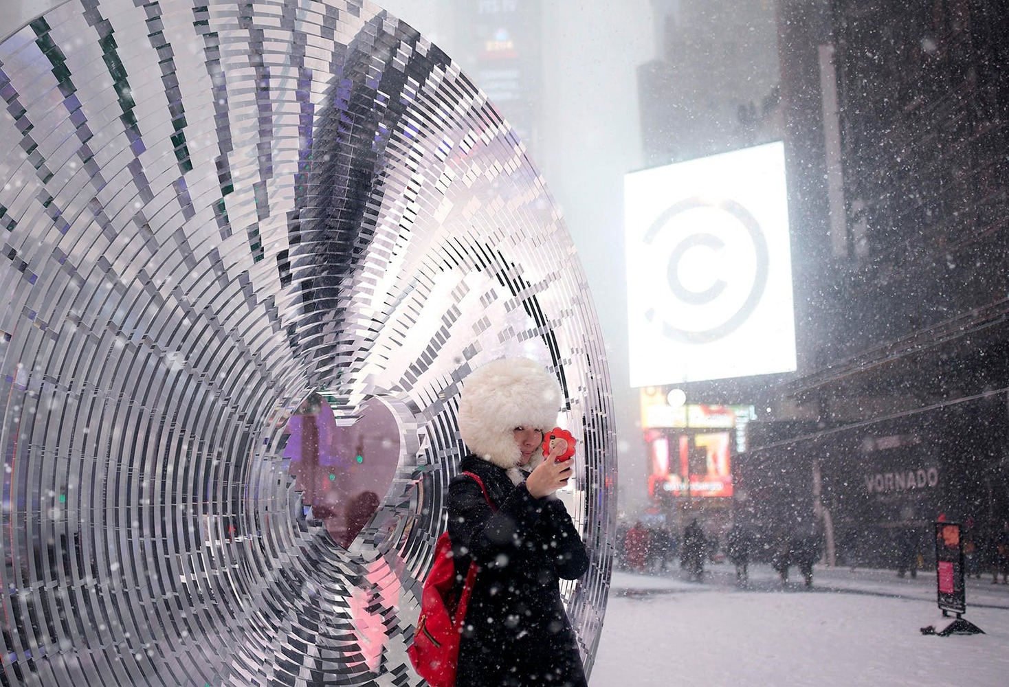 «Окно в сердце» будет построено на Таймс Сквер на День святого Валентина